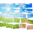 Stock Photo: Collage of twenty five frames with nature