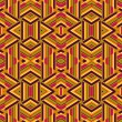 Abstract ethnic vector seamless background - 