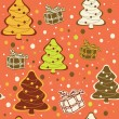Seamless christmas background. - Stock Vector