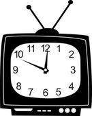 かわいい壁時計テレビ ステッカー. — ストックベクタ