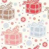 Seamless retro christmas background. — Stock Vector
