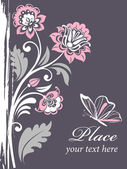 Vektor decorative floral background — Stockvektor