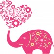 Vector de stock : Abstract vector illustration with elephant