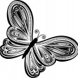 Abstract butterfly vector — Stockvektor