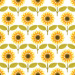 Sunflower background pattern vector — Stock Vector