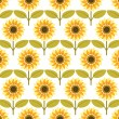 Stock Vector: Sunflower background pattern vector