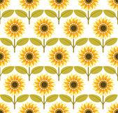 Sunflower background pattern vector — Stock Vector