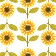 Yellow sunflower seamless pattern — Stock Vector #8994283