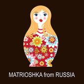 Traditional Russian matryoshka matrioshka doll — Stock Vector