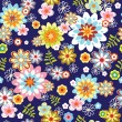 Cute abstract seamless floral pattern — Stock vektor