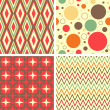 Abstract geometric pattern set — Stock Vector