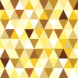 Stock Vector: Abstract gold seamless triangle pattern.