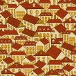 Seamless pattern town houses — Stockvectorbeeld