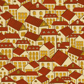 Seamless pattern town houses — Stock Vector