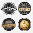 Set of vintage retro premium quality badges and labels — Stockvektor