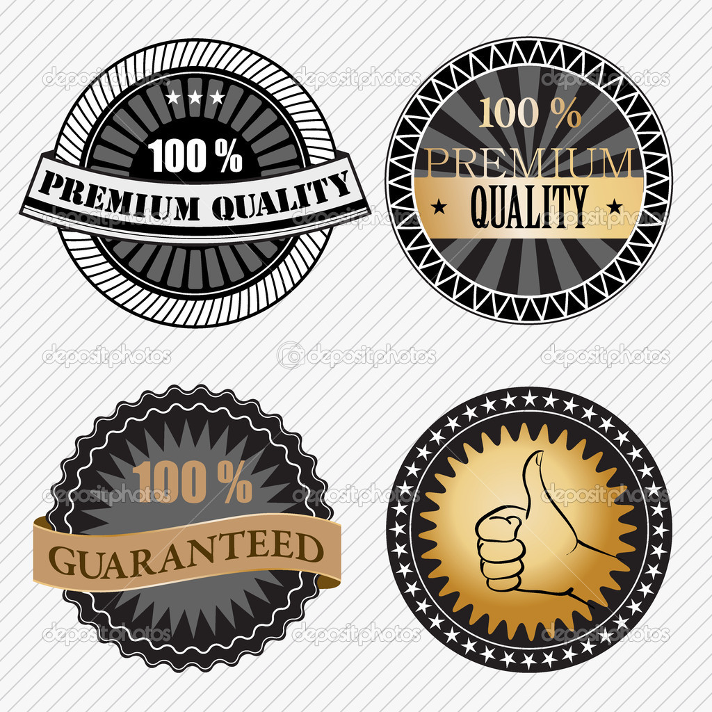 Set of vintage retro premium quality badges and labels. Vector illustration — Stock Vector #9459806