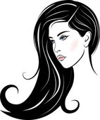 Beautiful woman face — Vector de stock