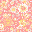 Seamless floral background. Flower vector. — Stock Vector