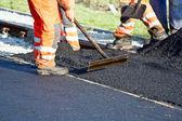 La construcción de carreteras — Foto de Stock