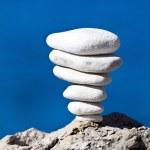 Stone stack balance, Adriatic coast Croatia — Stock Photo