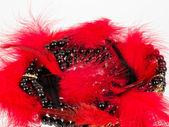 Perline di moda sexy e lacci neri su sfondo. — Foto Stock