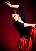 Flamenco Carmen beautiful woman in dress — Stock Photo