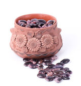 Color kidney beans in a bowl isolated on a white background — Stock Photo