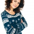 Stock Photo: Girl in Christmas sweater