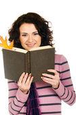 Niña con libro — Foto de Stock