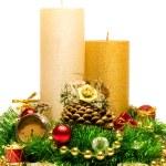 圣诞装饰蜡烛 — 图库照片