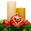 Christmas Decoration Candle. — Stock Photo #8067334
