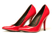 Sexy red shoes isolated on white background. — Стоковое фото
