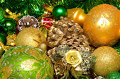 Christmas Decoration . New Year's background — Stock Photo