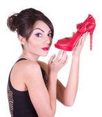 Woman with beautiful shoes — Foto de Stock