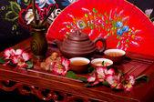 Tradizionale cerimonia del tè in giappone — Foto Stock