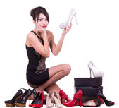 Woman with beautiful shoes — Stock Photo