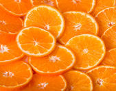 Healthy food background with beautiful orange — Stock Photo