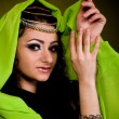 Stock Photo: Beautiful arabiwomin color yashmak