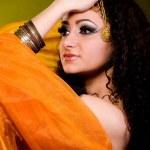 Beautiful arabian woman in color yashmak — Stock Photo #9153067
