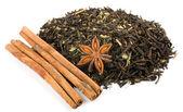 Izole tarçın ile bitkisel çay — Stok fotoğraf