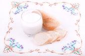 Beautiful bread with milk — Stock Photo