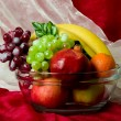Beautiful composition with fruits on vase — Lizenzfreies Foto