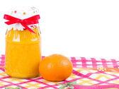 Mandarynki i pomarańczowy dżem — Zdjęcie stockowe