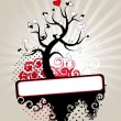 Royalty-Free Stock : Valentine love tree leaf from hearts. Vector