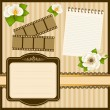 Beautiful vintage background with ornament. Vector - 图库矢量图片