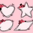 Valentines day background with hearts. Vector - Stock Vector