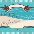 Beautiful Christmas background with trees.Vector illustration - ベクター素材ストック