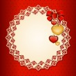 Beautiful vintage background with ornament. Vector — 图库矢量图片
