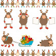 Christmas funny sheep with gifts. Vector set — Stock Vector #9443667