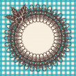 Royalty-Free Stock Векторное изображение: Beautiful vintage background with ornament. Vector
